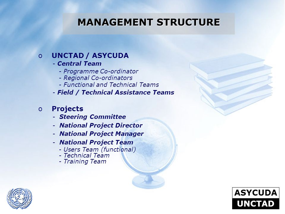 MANAGEMENT STRUCTURE UNCTAD / ASYCUDA Projects Central Team