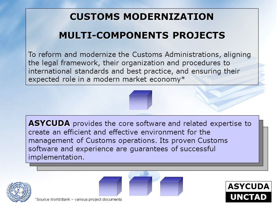 CUSTOMS MODERNIZATION MULTI-COMPONENTS PROJECTS