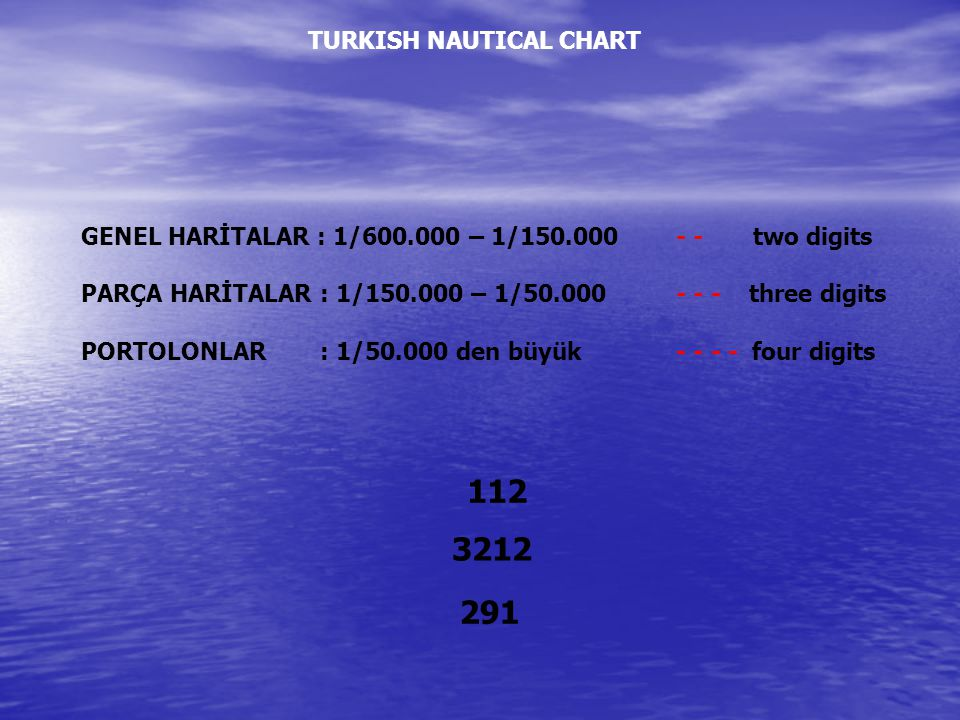 112 3212 291 TURKISH NAUTICAL CHART