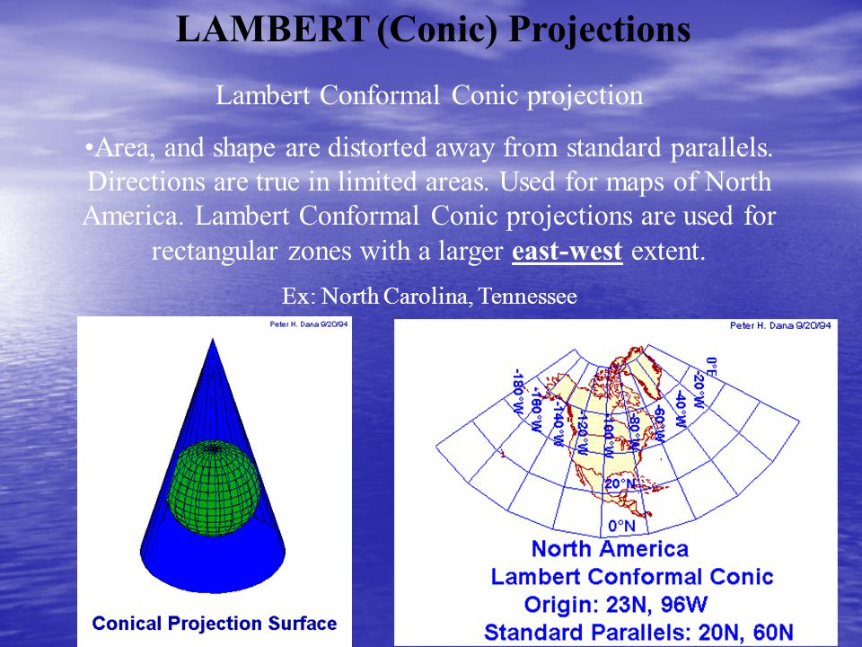LAMBERT (Conic) Projections