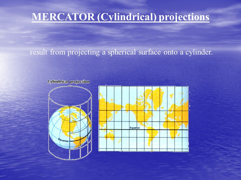 MERCATOR (Cylindrical) projections