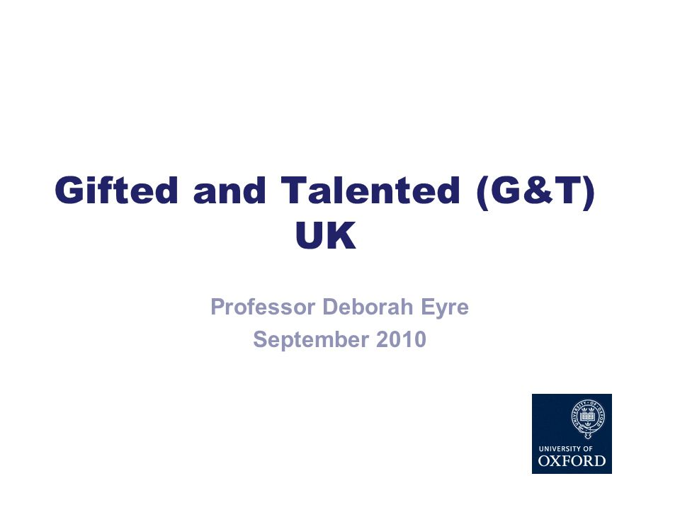 Gifted and Talented (G&T) UK