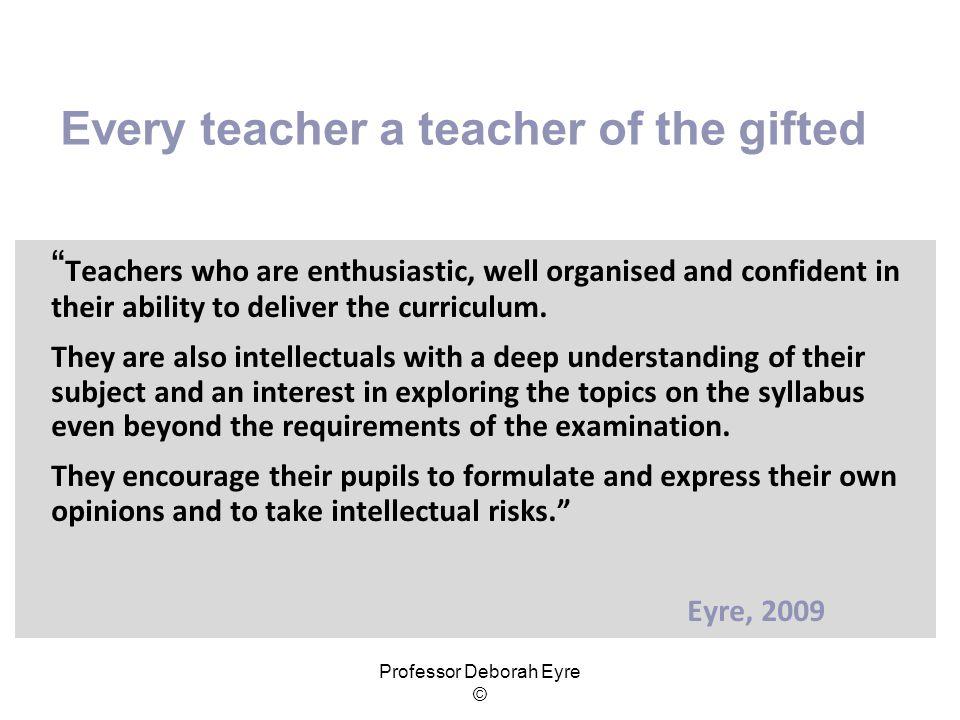 Every teacher a teacher of the gifted