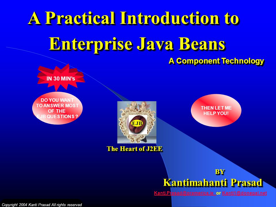 A Practical Introduction to Enterprise Java Beans