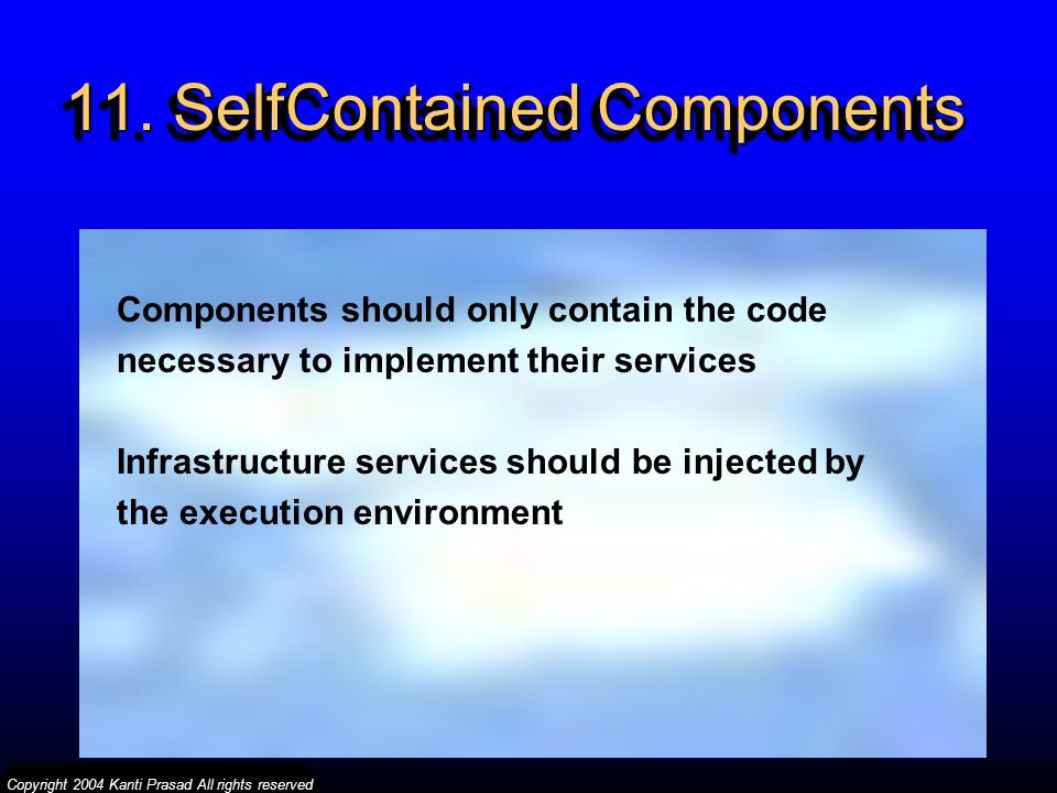 11. SelfContained Components