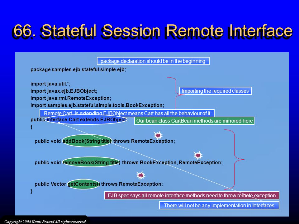 66. Stateful Session Remote Interface