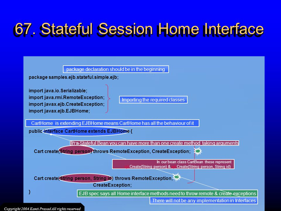 67. Stateful Session Home Interface