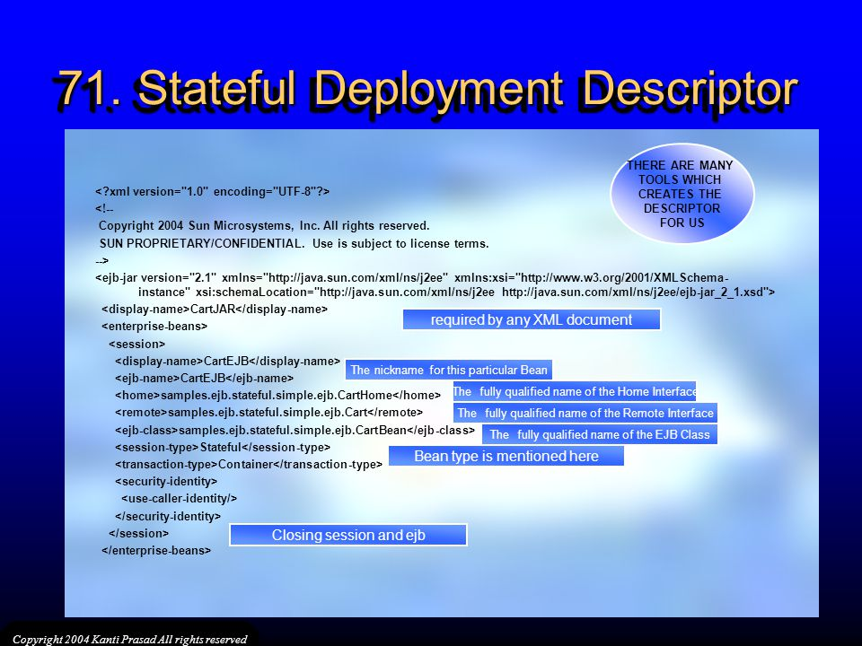 71. Stateful Deployment Descriptor