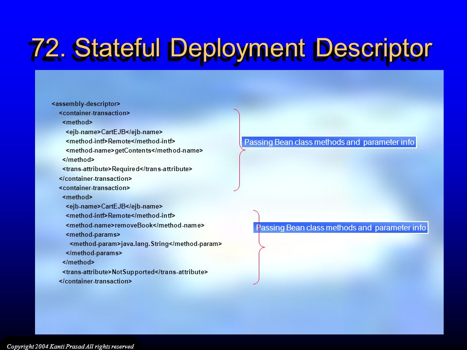 72. Stateful Deployment Descriptor