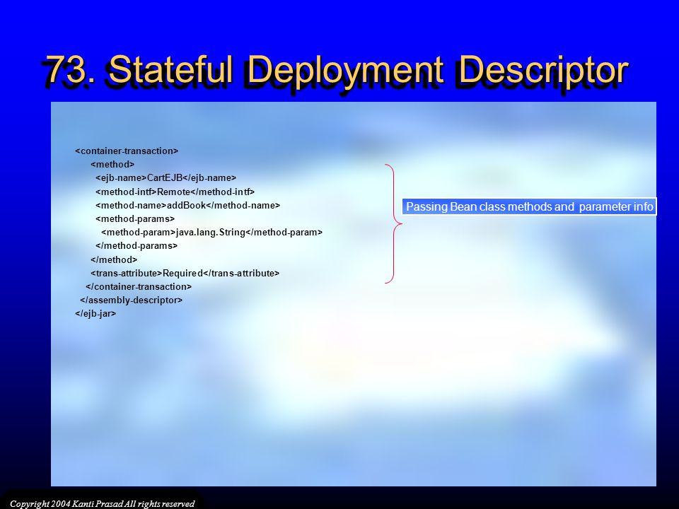 73. Stateful Deployment Descriptor