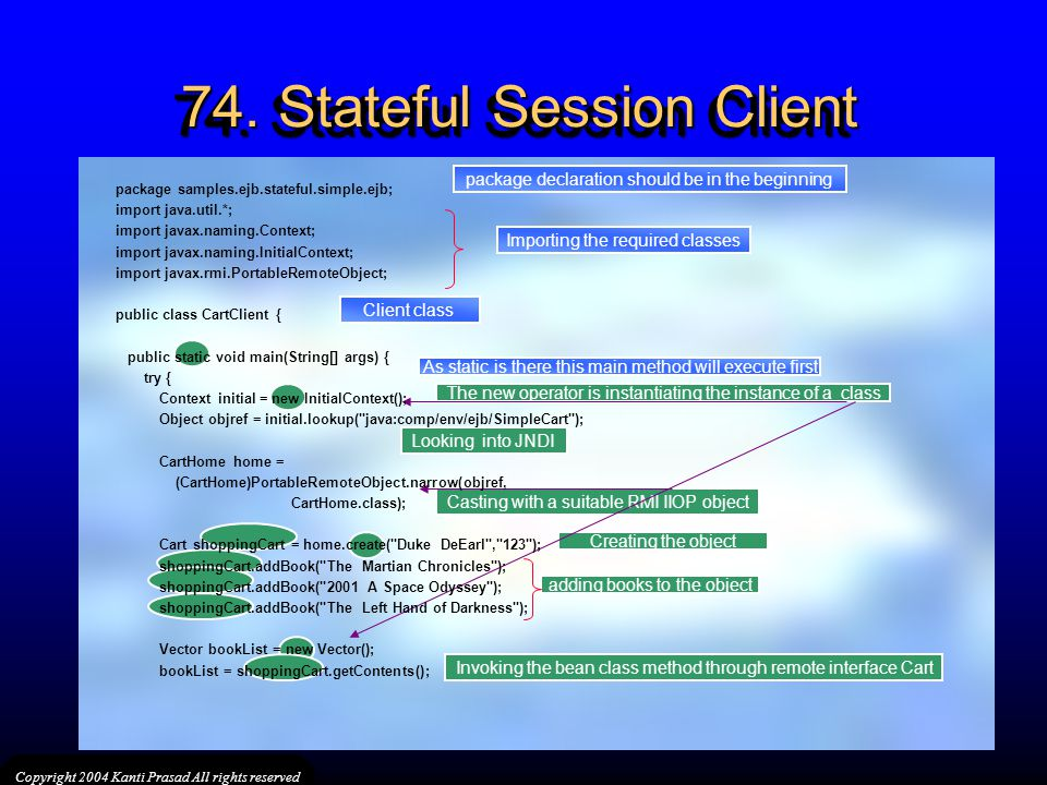 74. Stateful Session Client