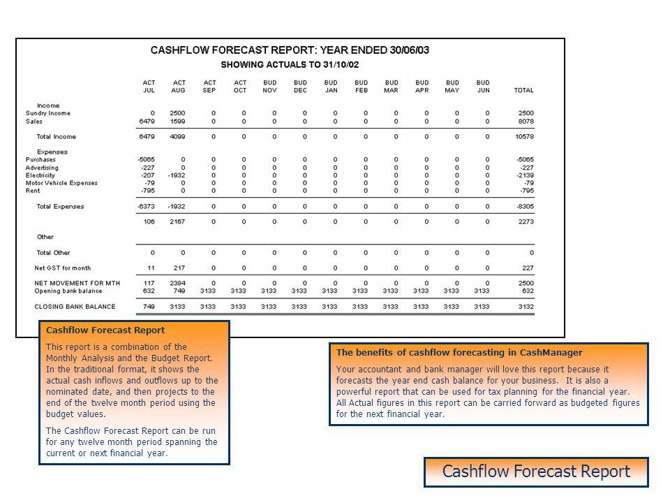 Cashflow Forecast Report