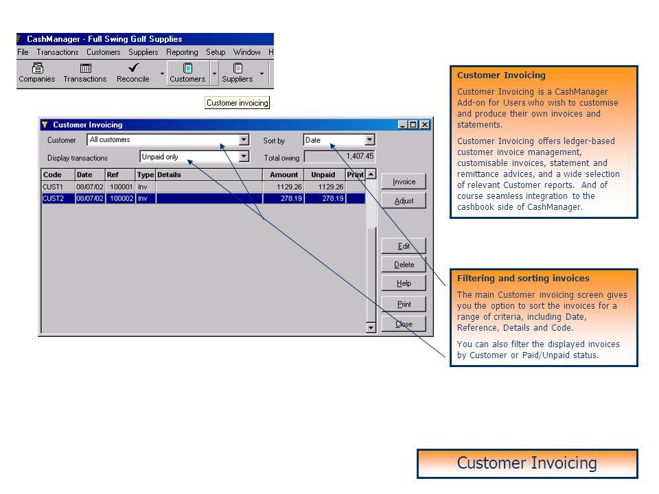 Customer Invoicing Customer Invoicing Customer Invoicing