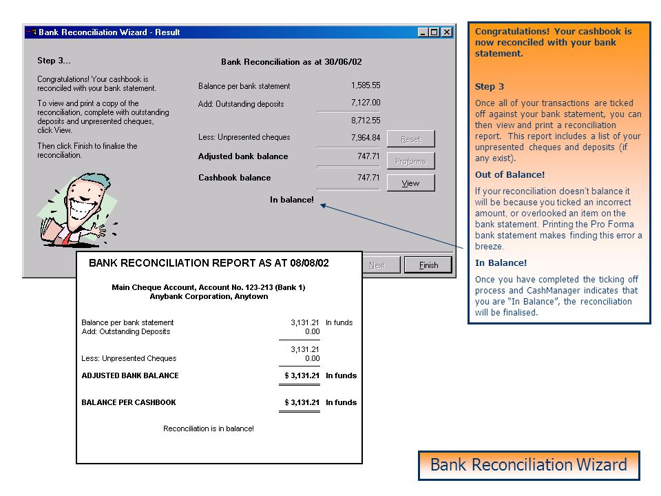 Bank Reconciliation – Step 3