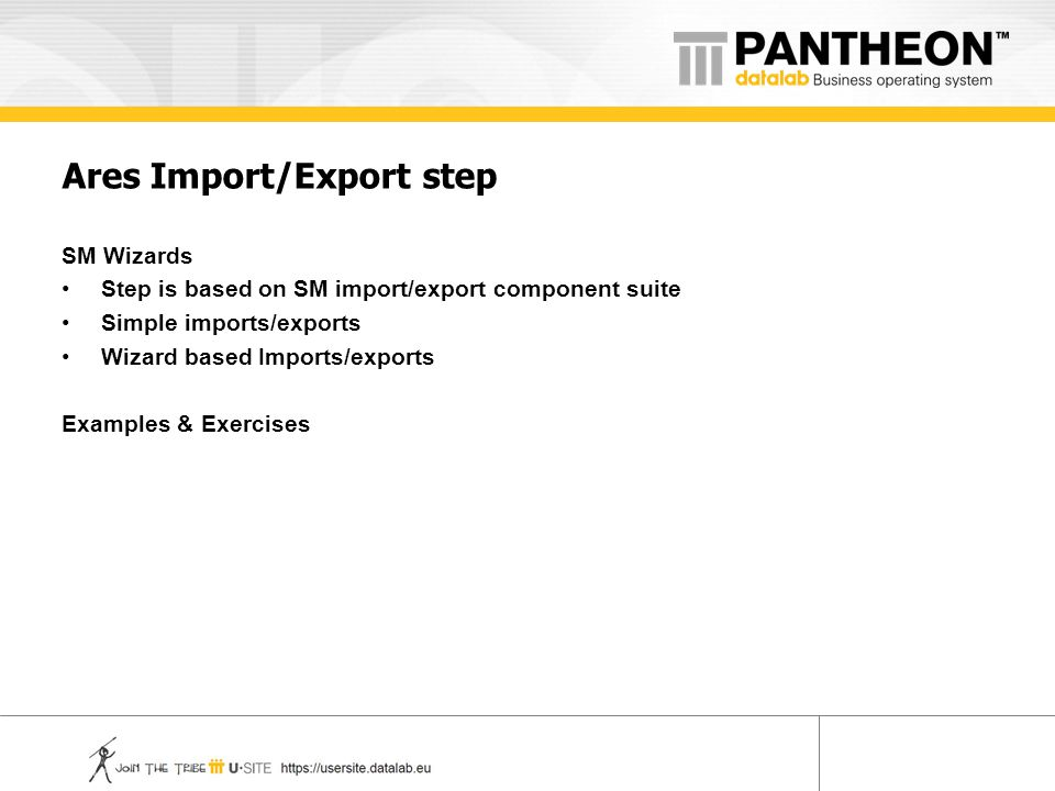 Ares Import/Export step