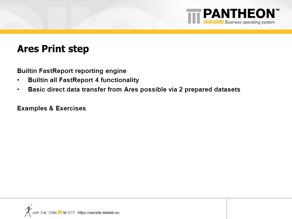 Ares Print step Builtin FastReport reporting engine