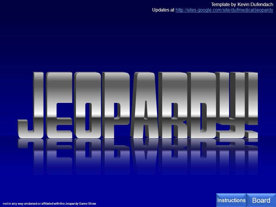 Jeopardy Jeopardy Board Instructions  Ppt Video Online Download