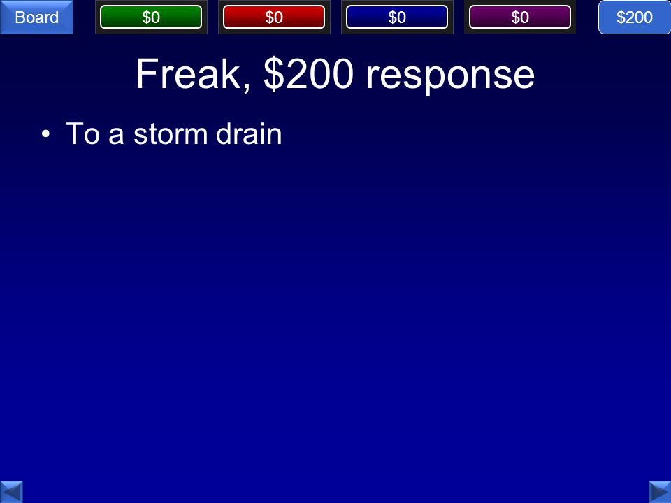 $200 Freak, $200 response To a storm drain
