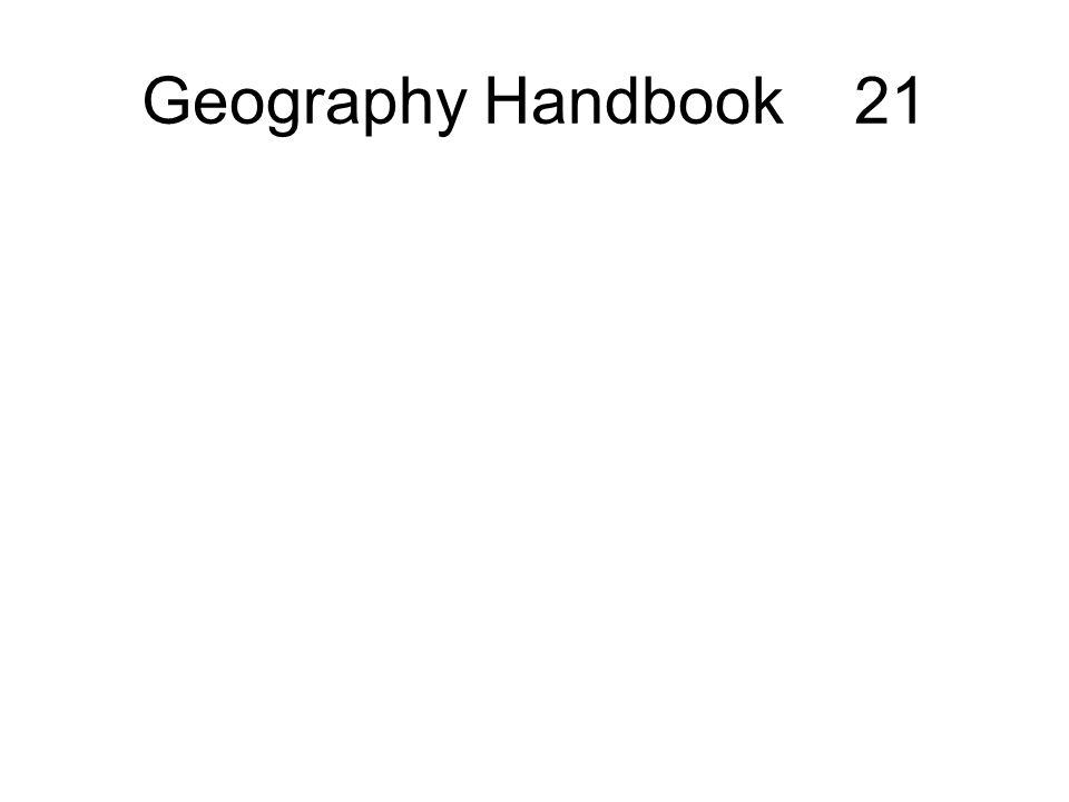 Geography Handbook 21