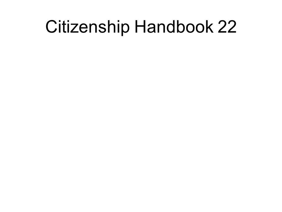 Citizenship Handbook 22