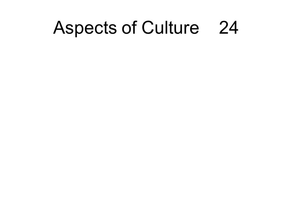Aspects of Culture 24
