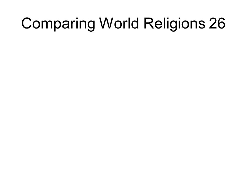 Comparing World Religions 26