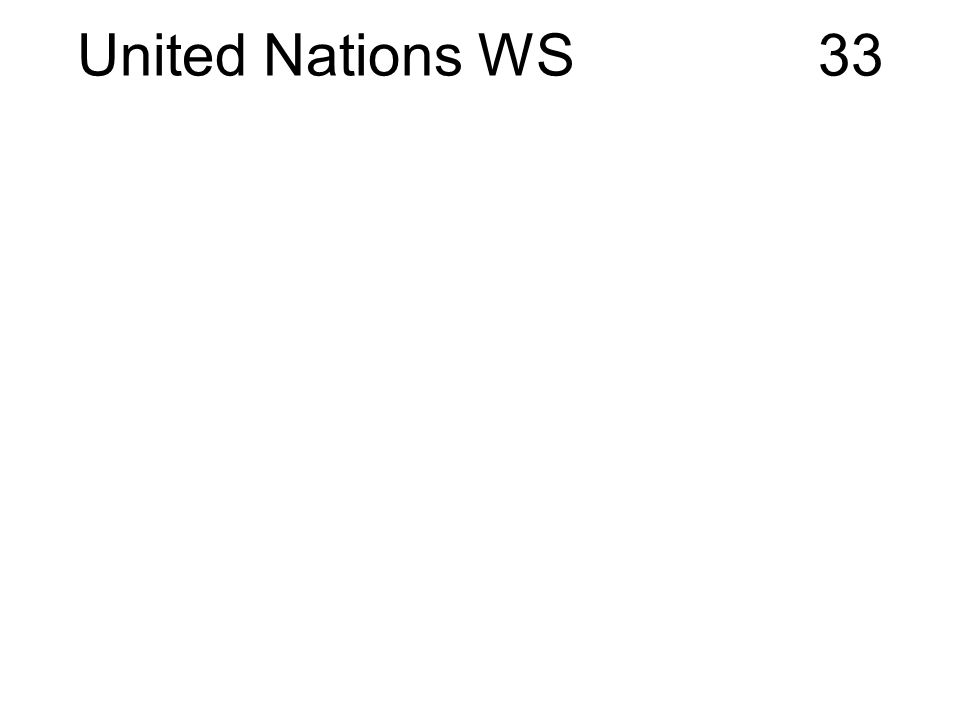 United Nations WS 33