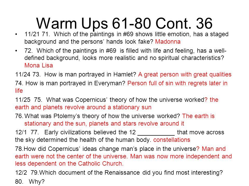Warm Ups 61-80 Cont. 36