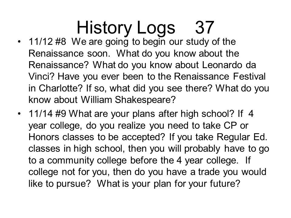 History Logs 37