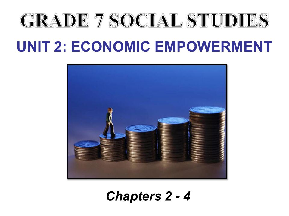 UNIT 2: ECONOMIC EMPOWERMENT