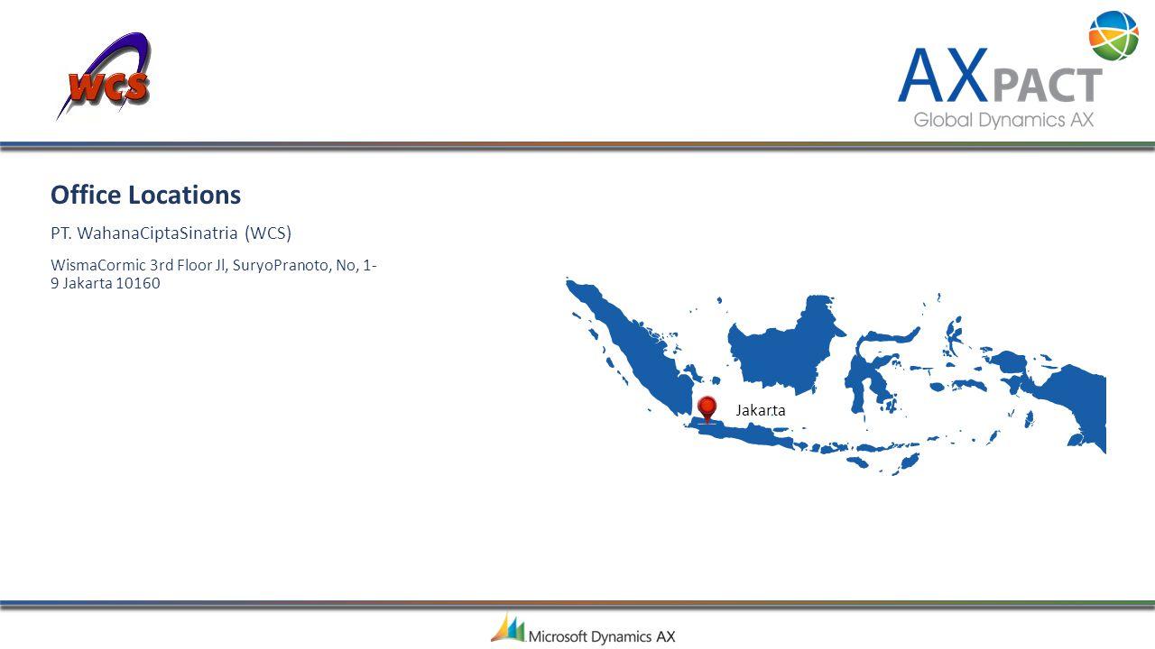 Office Locations PT. WahanaCiptaSinatria (WCS)