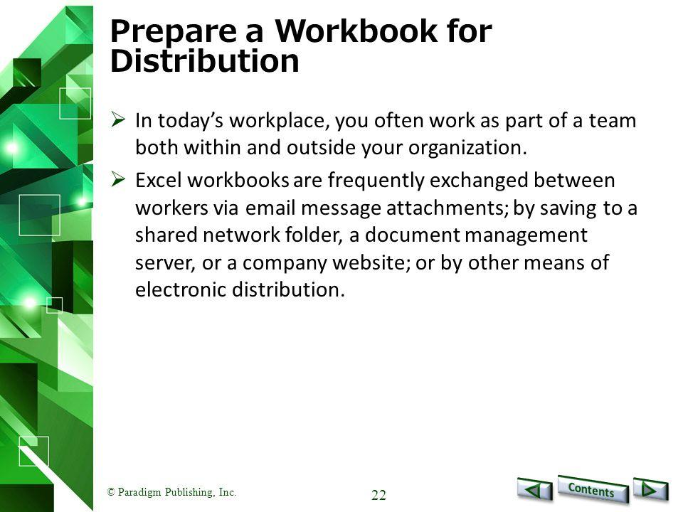 Prepare a Workbook for Distribution