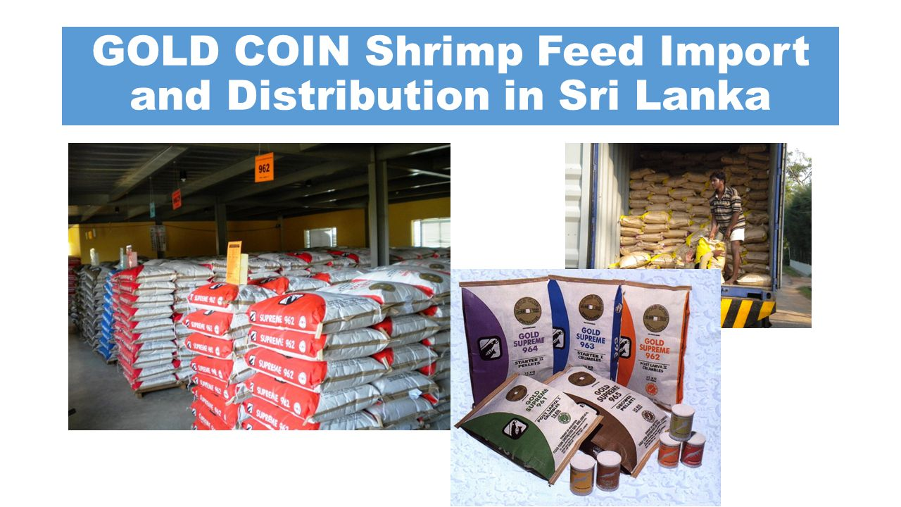 GOLD COIN Shrimp Feed Import and Distribution in Sri Lanka