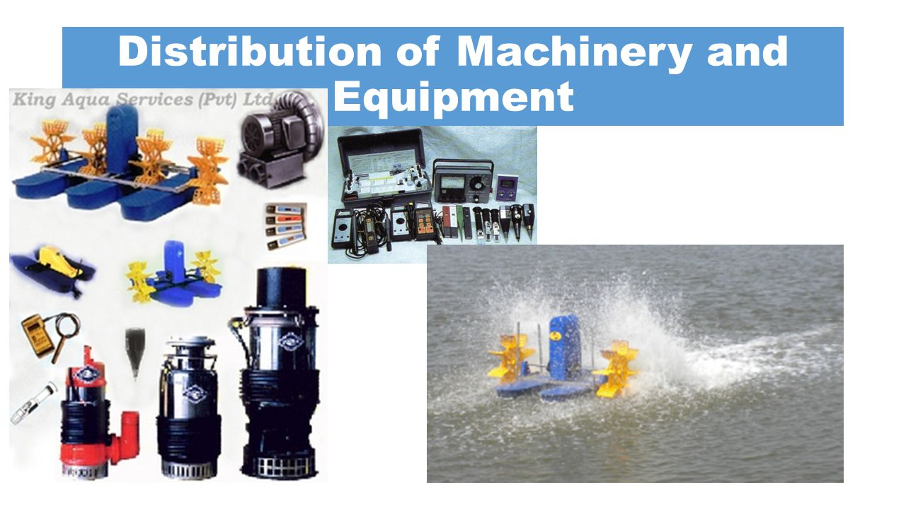 Distribution of Machinery and Equipment