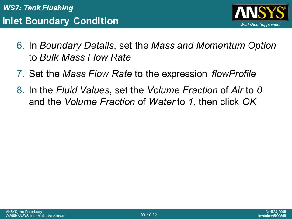 Inlet Boundary Condition