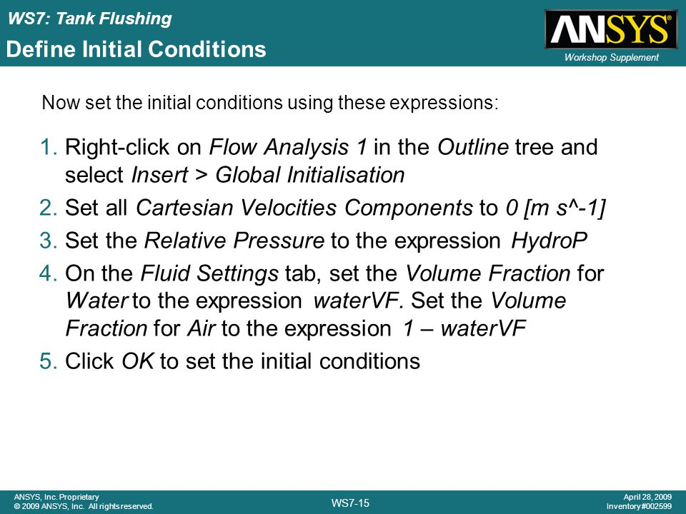 Define Initial Conditions