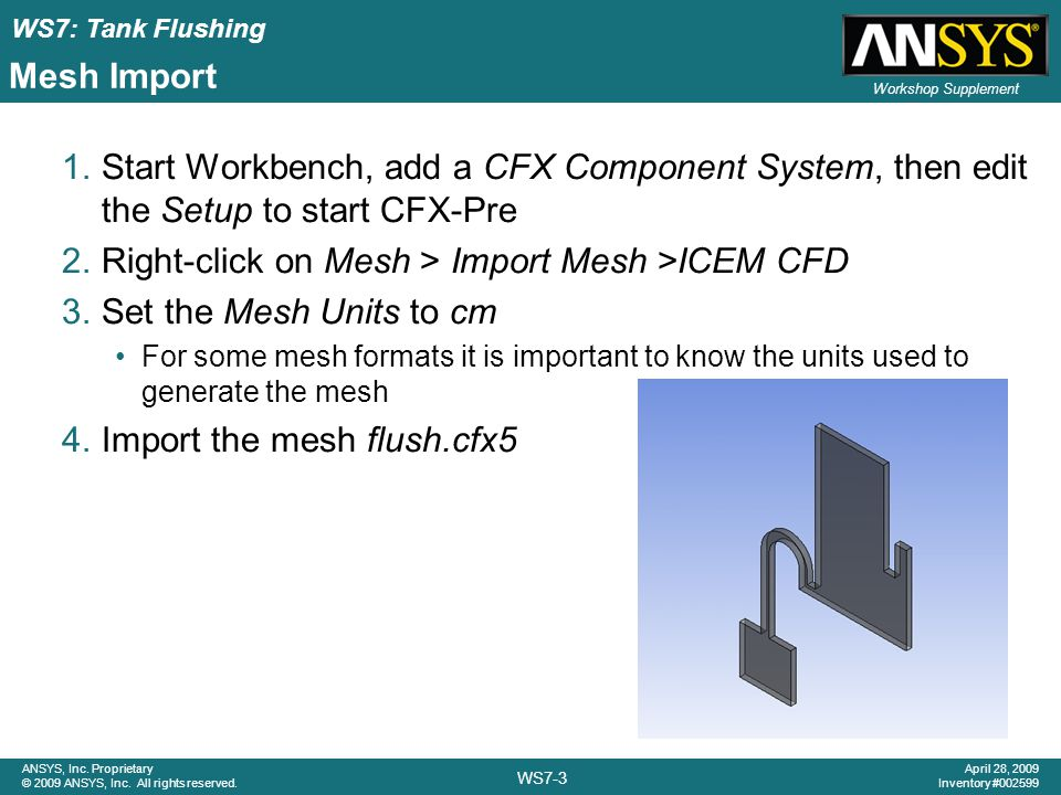 Right-click on Mesh > Import Mesh >ICEM CFD