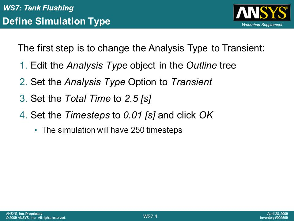 Define Simulation Type