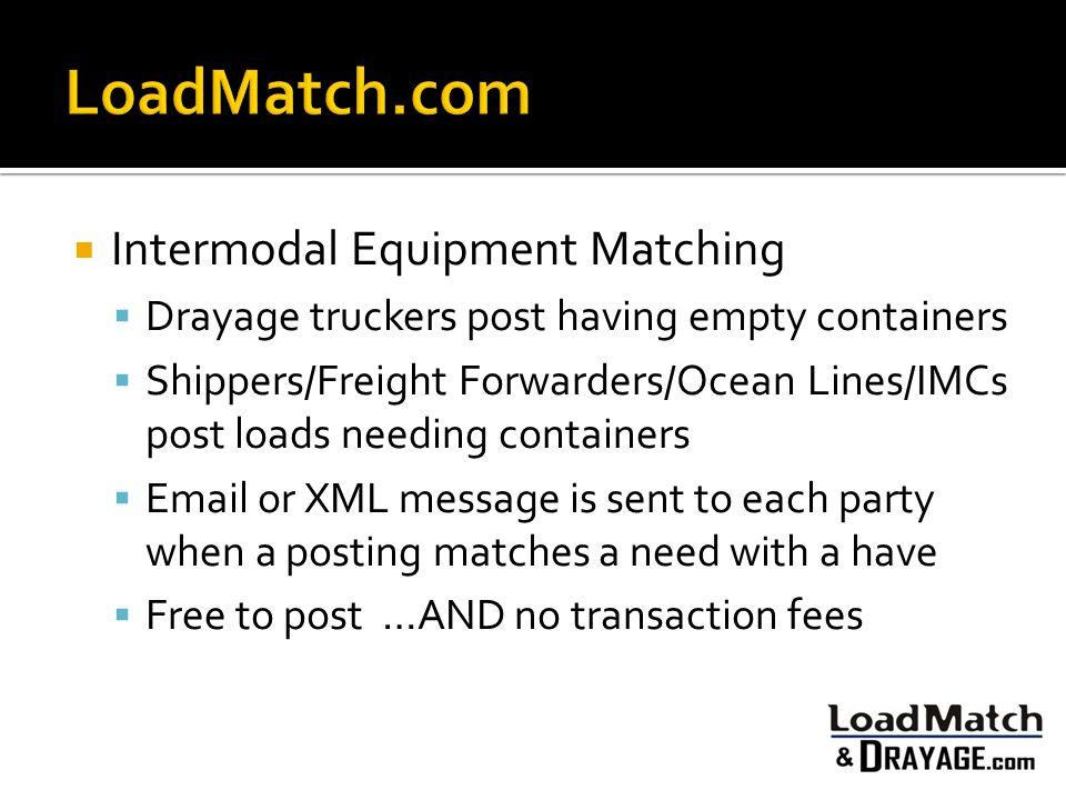LoadMatch.com Intermodal Equipment Matching