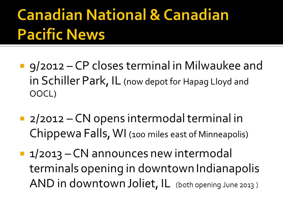Canadian National & Canadian Pacific News