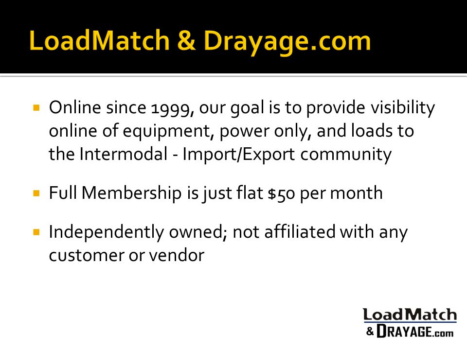 LoadMatch & Drayage.com