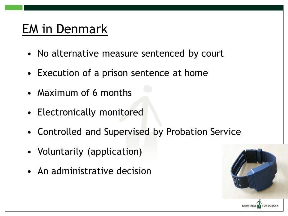 EM in Denmark No alternative measure sentenced by court