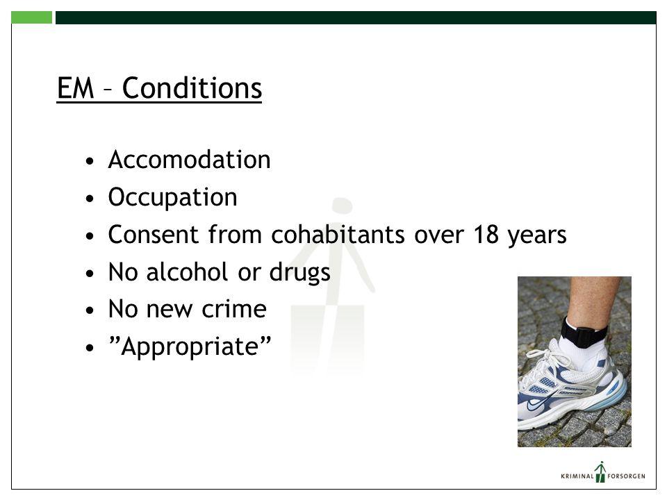 EM – Conditions Accomodation Occupation