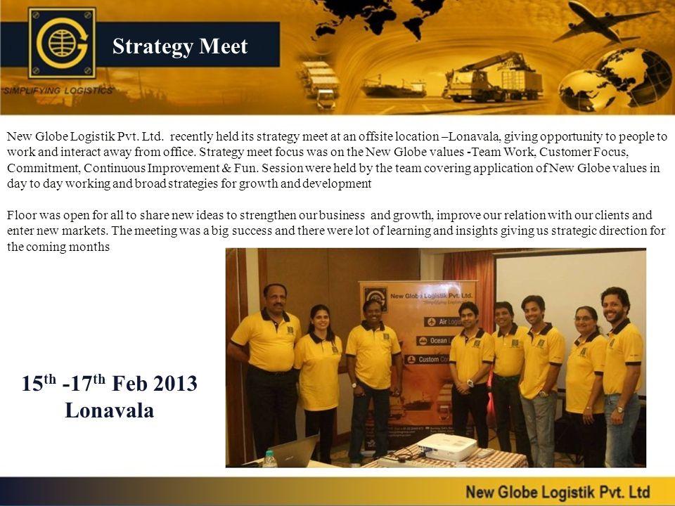 Strategy Meet 15th -17th Feb 2013 Lonavala