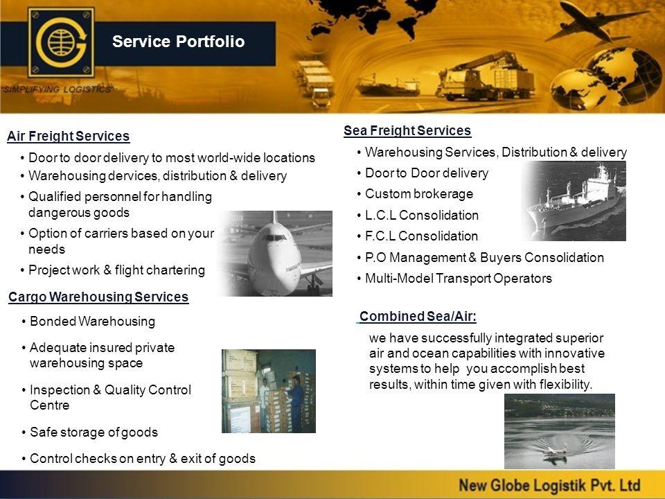 Service Portfolio Sea Freight Services Air Freight Services