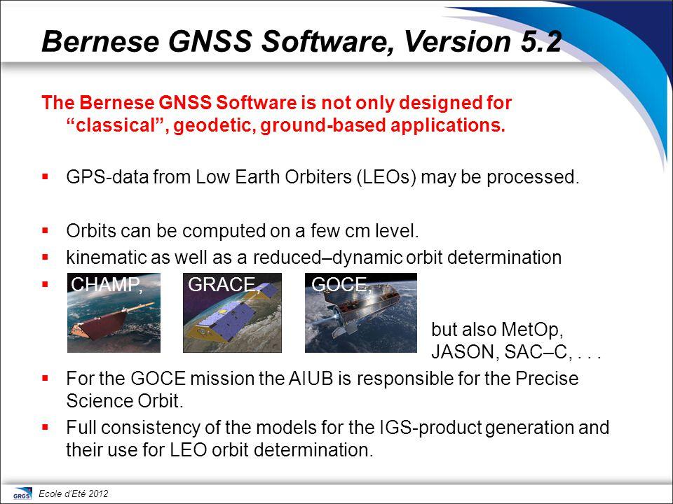 Bernese GNSS Software, Version 5.2