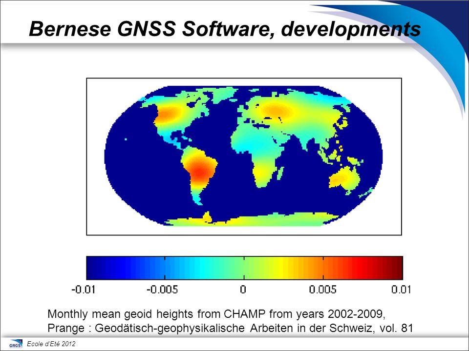 Bernese GNSS Software, developments