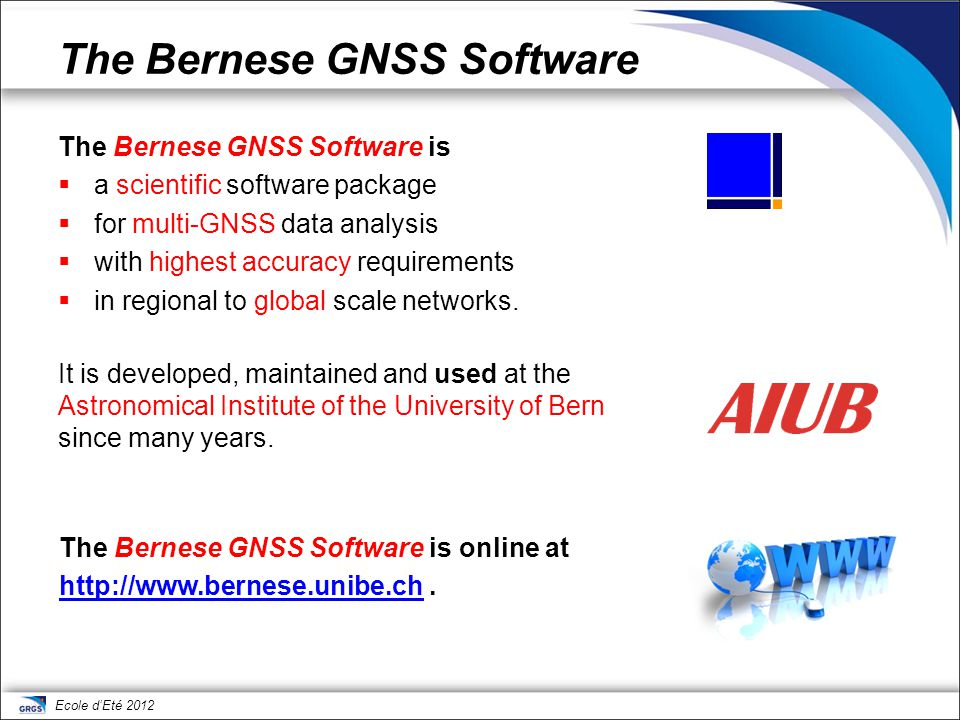 The Bernese GNSS Software