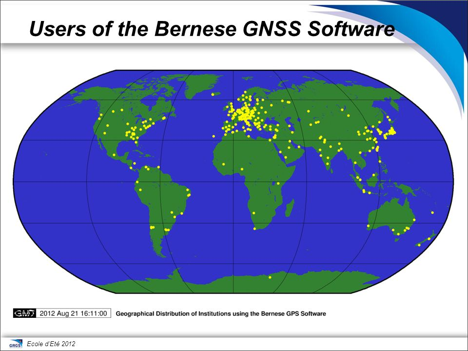 Users of the Bernese GNSS Software