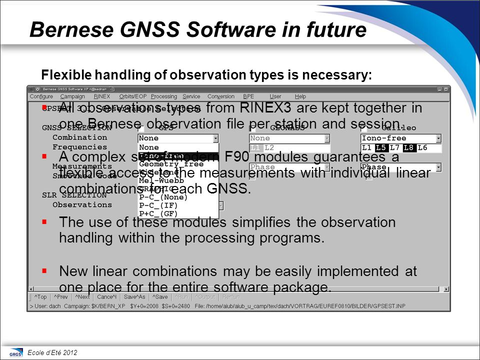 Bernese GNSS Software in future